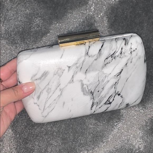 Pink Haley Handbags - Marble clutch